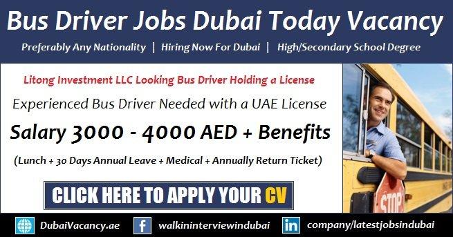 Bus Driver Jobs in Dubai 2019