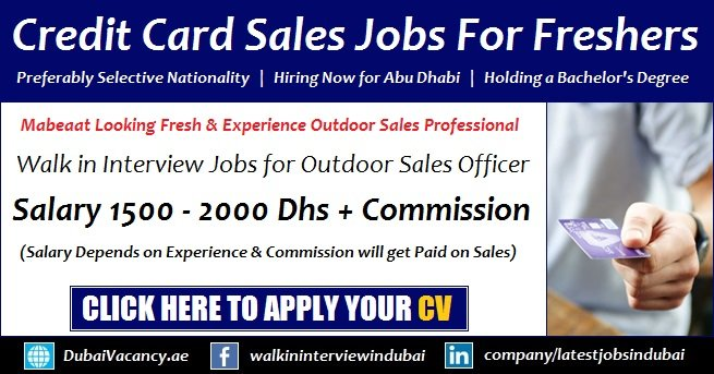 Credit Card Sales Executive Jobs