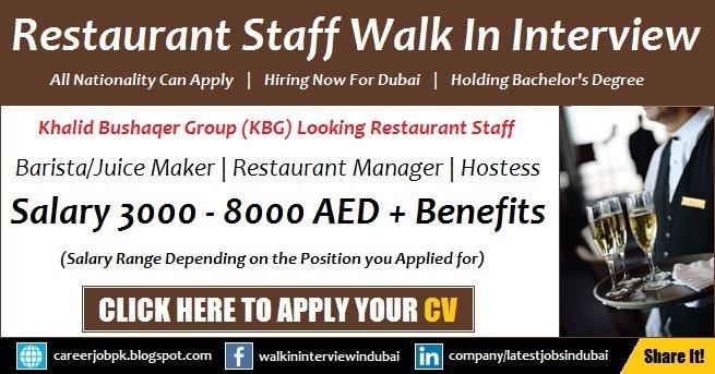 Dubai Restaurant Jobs