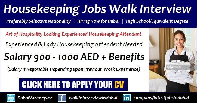 housekeeping jobs in dubai 2018