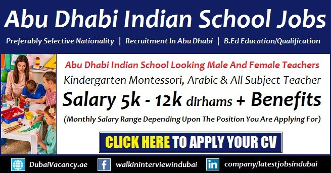 Abu Dhabi Indian School Vacancy
