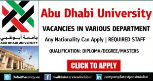 Abu Dhabi University Careers