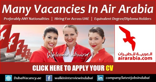 Air Arabia Careers 2019 Offered Latest Recruitment Jobs For Sharjah