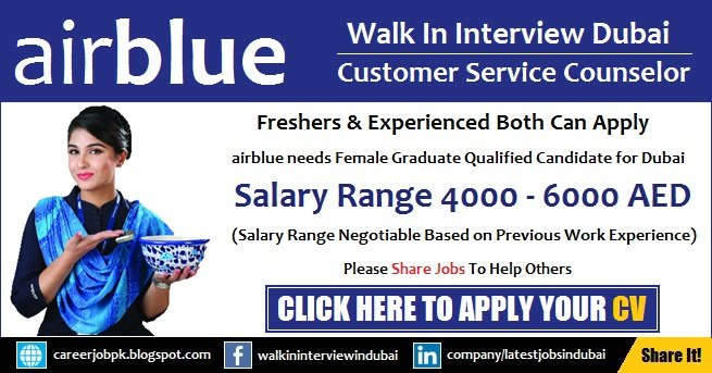Air Blue Customer Service Counselor Jobs