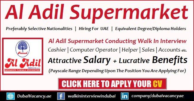 Al Adil Supermarket Walk in Interviews