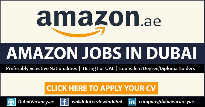 Amazon Jobs in Dubai