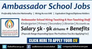Ambassador School Sharjah Dubai Jobs