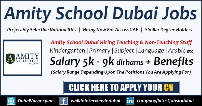 Amity School Dubai Careers For Teaching