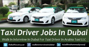 Arabia Taxi Dubai Driver Vacancy