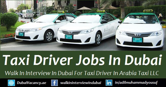 Arabia Taxi Dubai Driver Vacancy