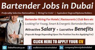 Bartender Jobs in Dubai