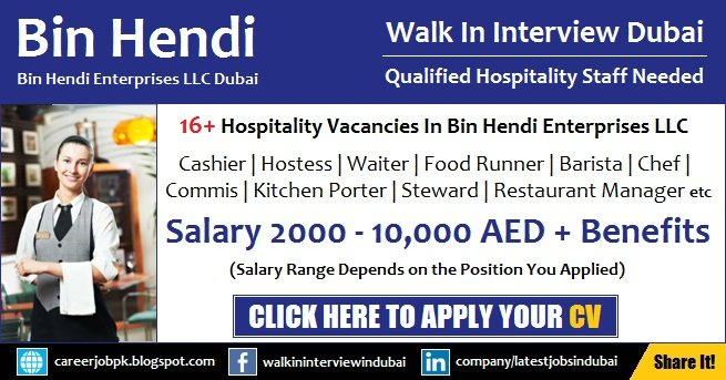 Bin Hendi Dubai Jobs and Career