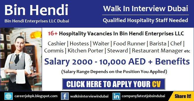 Bin Hendi Dubai Jobs and Career
