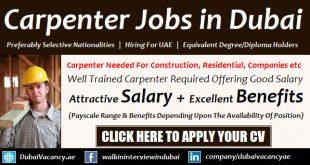 Carpenter Jobs in Dubai
