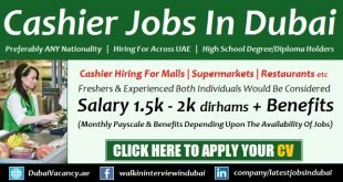 Cashier Jobs in Dubai