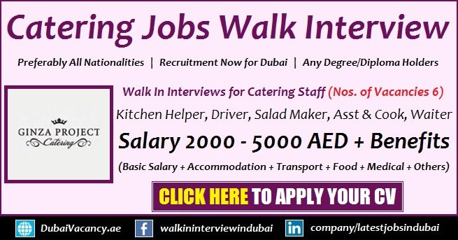 Catering Jobs in Dubai