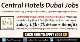 Central Hotels Dubai Careers