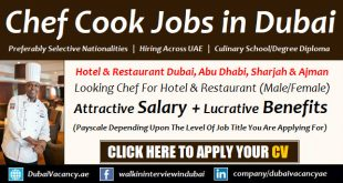 Chef Jobs in Dubai