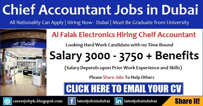 Al Falak Electronics Chief Accountant Jobs