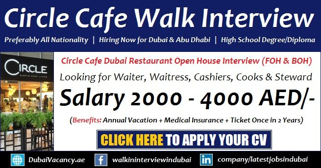 Circle Cafe Dubai Walk in Interview