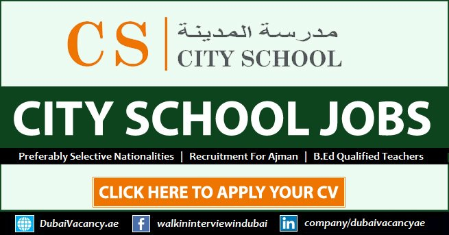 City School Ajman Careers