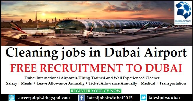 Cleaning Jobs in Dubai Airport