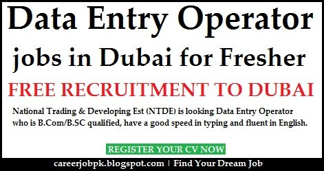Data Entry Jobs In Dubai For Freshers