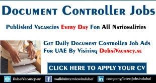 Document Controller Jobs in Dubai
