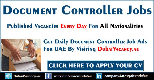 Document Controller Jobs in Dubai