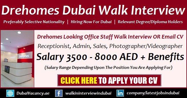 Drehomes Dubai Jobs