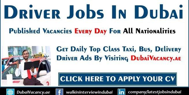 Driver Jobs In Dubai Amp Uae For Part Time Full Time Sept 2019