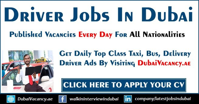 Driver Jobs in Dubai & UAE For Part Time/Full Time (Sept 2019)