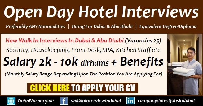 Dubai 5 Star Hotel Jobs