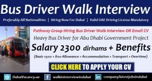 Walk Interview Heavy Bus Job