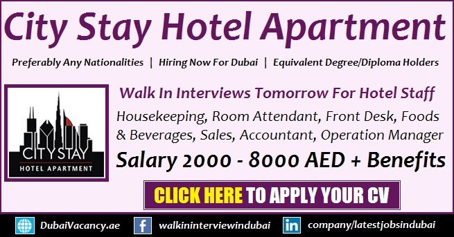 City Stay Hotel Apartment Walk in Interview