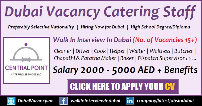 Jobs For Catering Services in Dubai