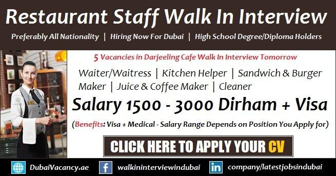 Darjeeling Cafe Dubai Walk in Interview