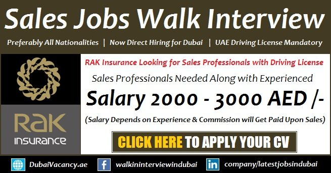 Dubai Sales Jobs Vacancies