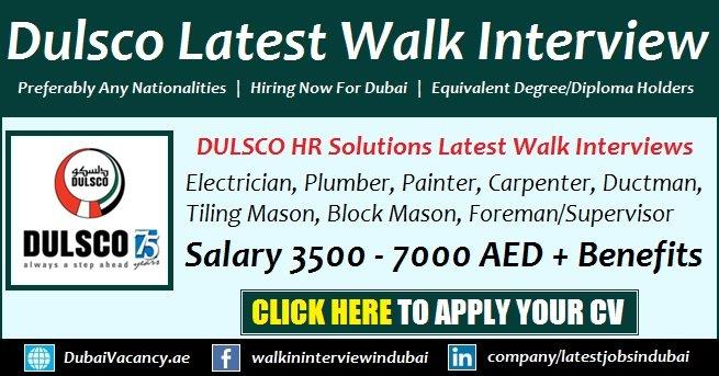 Dulsco Recruitment Open Day Jobs