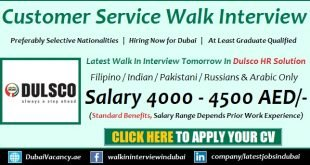 Dulsco Customer Service Jobs