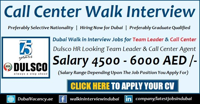 Dulsco Call Center Jobs