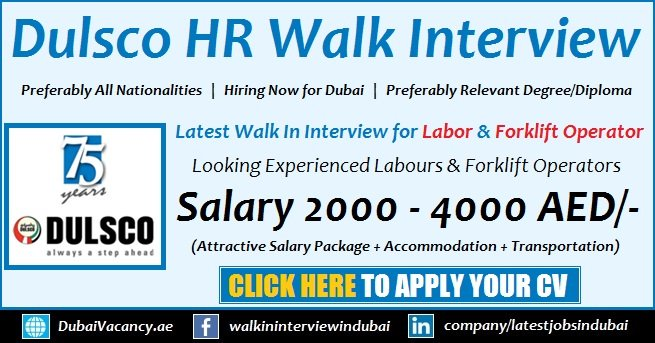 Dulsco HR Solutions Walk Interviews