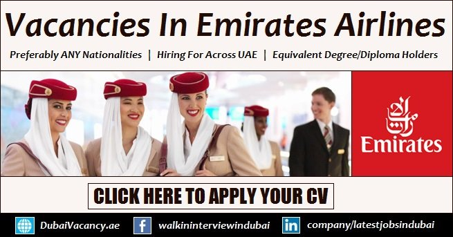 Emirates Group Careers 2019 Announced New Jobs For Across UAE