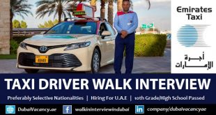 Emirates Taxi Driver Jobs