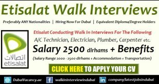Etisalat Academy Walk in Interview