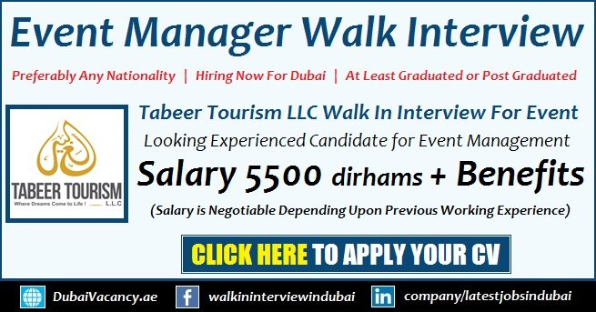 Event Manager Jobs in Dubai