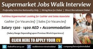 Fathima Supermarket Jobs in Dubai
