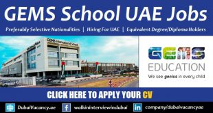 GEMS School Dubai Vacancies