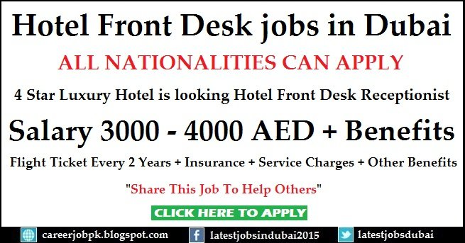 Asfar Hotel Apartment Receptionist Jobs