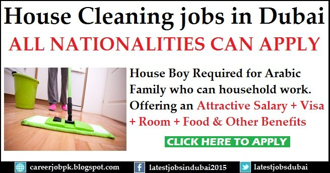 House Cleaning Boy Required For Arabic Family In Dubai Apply